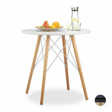 Small Wooden Dining Table, Round Kitchen or Living Room Table, Nordic Wood Table