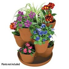 Stackable Flower Tower Planter Plants Gardening Pots Yard Garden Decoration New