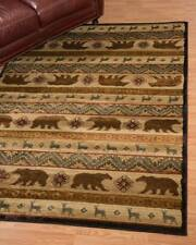 United Weavers Affinity Nordic Bear Cream Country Cabin Soft Polypropylene Rug