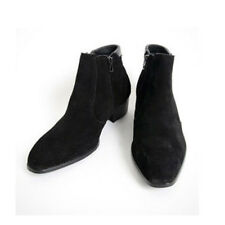 Men's Casual British Style Ankle Boots High Top Heel Zip Suede Leather Shoes