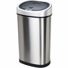 Nine Stars Automatic Motion Sensor Slim Touchless 13-Gallon Trash Can Stainless
