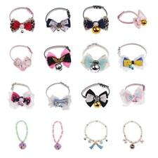 Pet Collar Bow Tie Buckle PU Leather Collar Dog Cat Collar Bell Bowknot Necklace