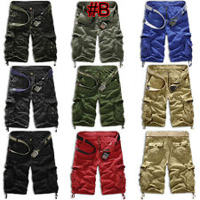 Mens Casual Short Military Combat Camo Cargo Shorts Pants Work Army Trouser