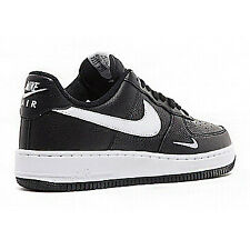 Nike Air Force 1 Men Leather Matt Black White Trainers