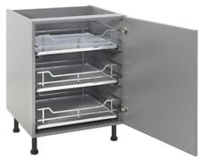 Kitchen Cabinet Solid Base Pull out Basket with Soft Close Slide / Runner System