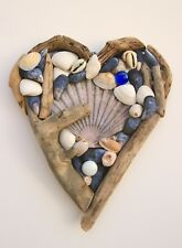 Driftwood & Shell Hearts Handmade in Cornwall