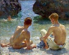 The Critics by Henry Scott Tuke, 1927 (English Impressionist Art Print)