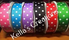 "Grosgrain Ribbon with dots 1.5"" - 38mm wide Sold by 2 M - Craft - Hair Bows"