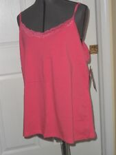 ALLYSON WHITMORE KNIT TOP CAMI SIZE 3X PINK LACE STRETCH NWT