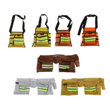 Baoblaze Reflective Multi Pockets Tool Apron Oxford Cloth Tools Bag Craft