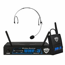 Nady UHF-3 HM-10 Wireless Headset Microphone System - True Diversity with HM-10