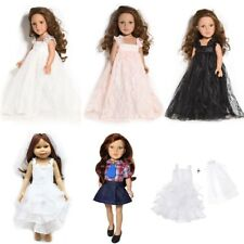 """Handmade White Wedding Clothes Party Outfit 18"""" American Girl Doll Lace Dress"""