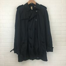 Burberry Brit New With Tags Trench Coat Mens XL Navy Blue Retail $795 NWT Rain