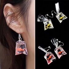 Personality Goldfish Water Bag Shaped Dangle Earrings Resin Earrings Eardrop