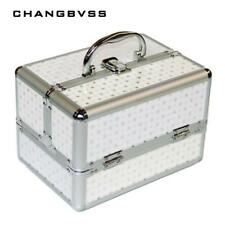 Aluminum Makeup Train Jewelry Storage Box Cosmetic Lockable Case Organizer New