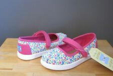 Toms Toddler Girl Fuchsia Multi Floral Mary Jane Shoes US 9, 10, 11 Tiny NWB