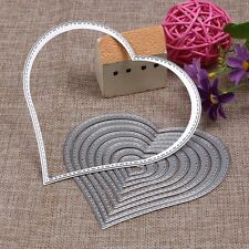 Unique Carbon Steel Heart Mould Cutting Dies Scrapbook Stencil Album Paper Card