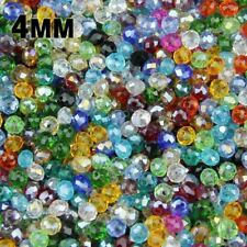 4mm 100pcs Flat Round Shape Crystals Material Beads For Jewelry Making