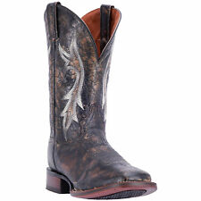Dan Post Mens Black Cowboy Boots Distressed Leather Cowboy Boots