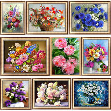Flowers DIY 5D Diamond Painting Plant Art Drill Cross Stitch Kit Home Decor Gift