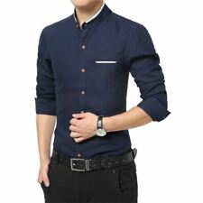 Men New Fashion Casual Wear Blue Color Long Sleeve Slim Fit Shirt