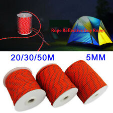 20/30/50M 5mm Reflective Cord Guy Rope Clothesline for Home Camping Awning Tent