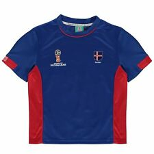 FIFA World Cup 2018 Iceland T-Shirt Infants Blue Football Soccer Top Tee