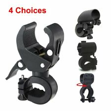 Bicycle LED Front Light Torch Bike Mount Clip on Clamp Grip Cycling Bracket Hold