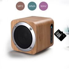 Mini Wooden Wireless Bluetooth Speaker Support TF Card/FM for Samsung Note 8/S8