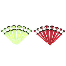8pcs Acrylic Fake Ear Cheater Tapers Plugs Expanders Gauges 6 to 0g Earrings