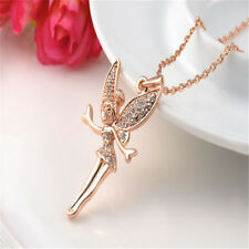 Angle Wing Necklace Dancing Girls Pendant Rhinestone Crystal Fashion Charms