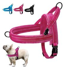 No Pull Nylon Dog Harness Soft Padded Adjustable Reflective Pet Vest For Walking