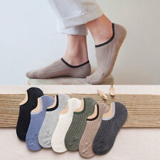 5-10 Pairs Mens Cotton No Show Solid Invisible Loafer Boat Low Cut Casual Socks