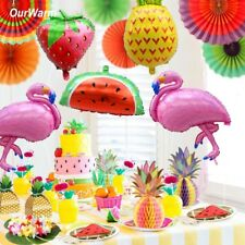 Pineapple Flamingo Decorations Beach Theme Hawaii Luau Birthday Carnival Party