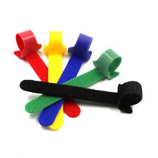 Reusable Hook and Loop Fastening Cable Cord Ties Self-Attaching  Wraps Straps