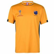 FIFA World Cup 2018 Australia T-Shirt Mens Yellow Football Soccer Top Tee