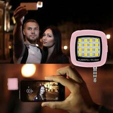 Portable Mini 16 LED Selfie Flash Fill Light for Mobile Cell Phone Android IOS
