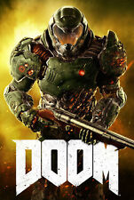 187713 Doom Game PC Dos Atari Xbox PS4 3DO Snes Jaguar Wall Print Poster Plakat