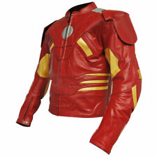 Mens Rider Motorcycle Sports Leather Jacket Motorbike Racing Leather Jacket CE