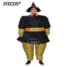 Vintage Halloween Witch Costume Adult Inflatable Blow Up Suit Carnival Party Men