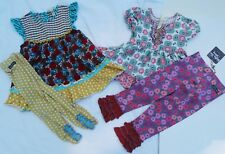 MATILDA JANE top & bennys/leggings set Girl's 4, Happy & Free Life is a Beach