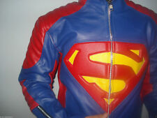 Superman Motorcycle Sport Leather Biker Jacket Motorbike Racing Leather Jacket