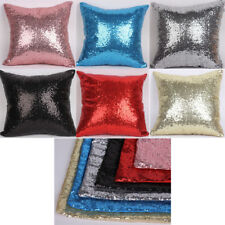 Reversible Mermaid Pillow Sequin Cover Glitter Sofa Cushion Case