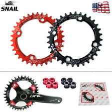 SNAIL 104bcd MTB Bike Chainring 32-42T Round/Oval Narrow Wide Bicycle Chain Ring