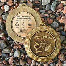 """CaCHe - The Chemistry of Christmas SPINNING Geomedal Geocoin (Cutouts, 2.25"""")"""