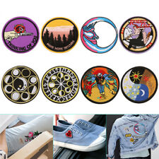 Embroidery Sew Iron On Patch Badge Transfer Fabric Bag Jeans Applique Craft DIY