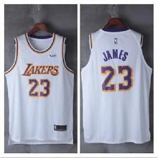 NEW Los Angeles Lakers#23 LeBron James Basketball Jersey White Size:S--XXL
