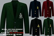 UNITS N - Q  EMBROIDERED BLAZER JACKET BADGE 2 CHEST & 3 CUFF BUTTONS PER SLEEVE