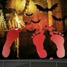 2pcs Scary Horrible Halloween Clings Wall Sticker Wall Decals for Haunted Houses