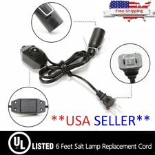Salt Lamp Cord with Dimmer Control/Switch 6 ft Long Uses E12 Bulb **USA SELLER**